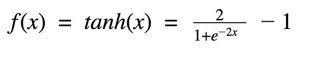 equation of the tanh function