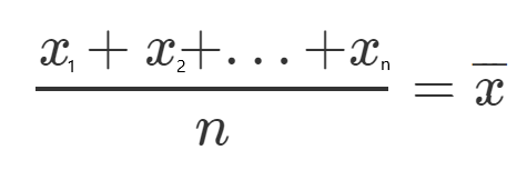 Sum of x divided by n