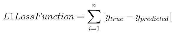 L1 loss function | insideAIML