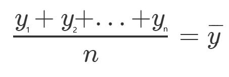 Sum of y divided by n