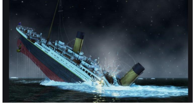 Titanic sank into the Atlantic Ocean