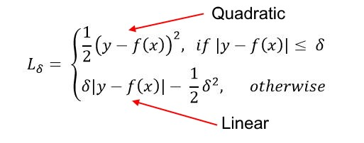 Huber loss function | insideAIML
