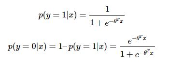 binary classification, for Sigmoid