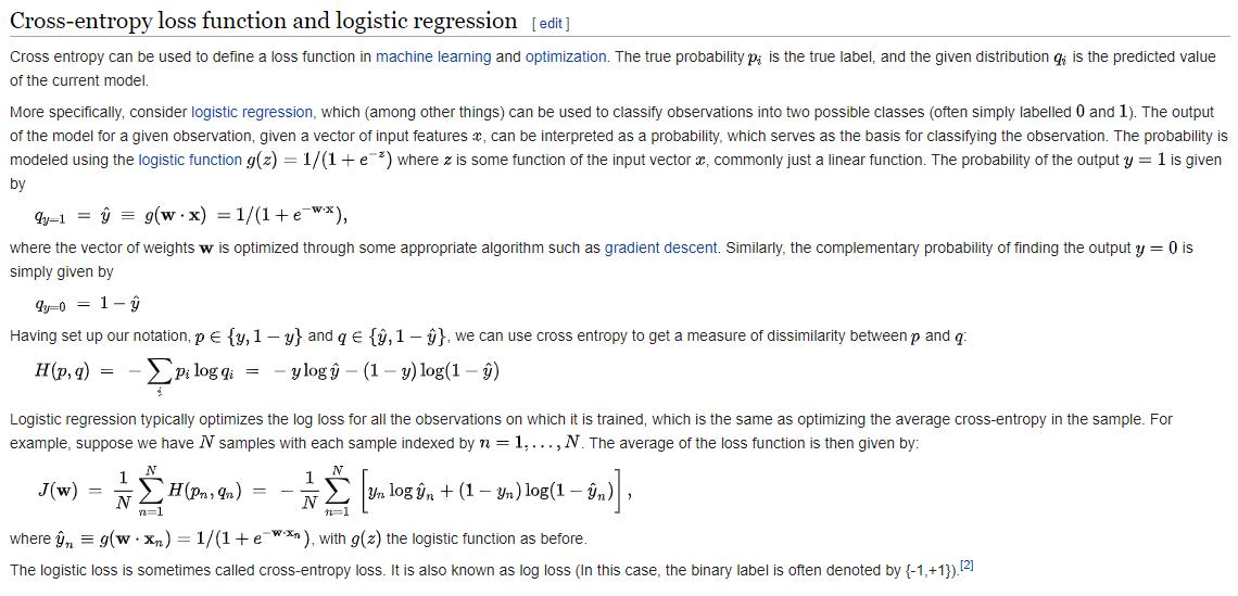 Cross-entropy loss | insideAIML