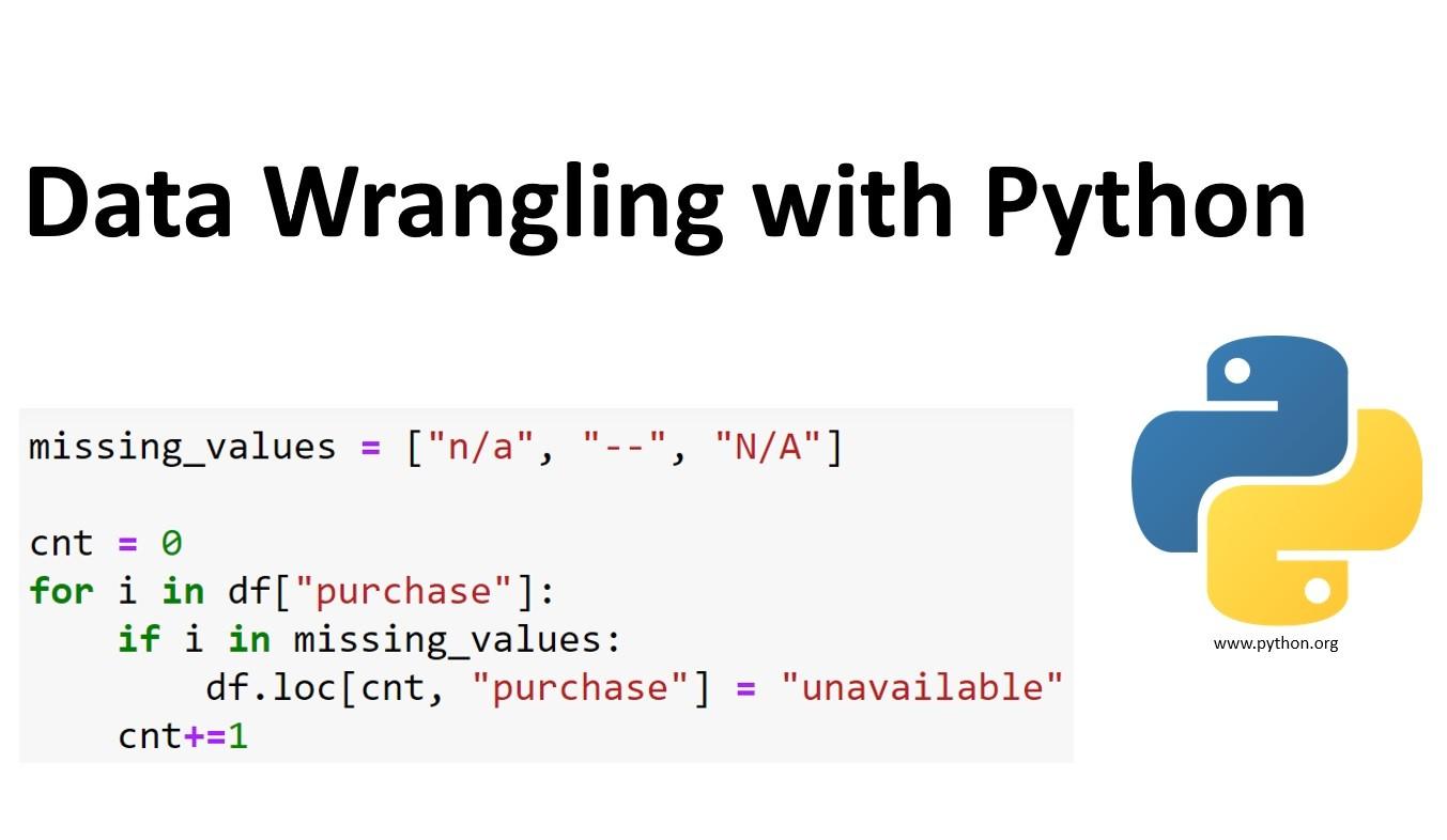 Data Wrangling in Python | Insideaiml