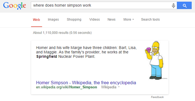 Where does the homer Simpson work