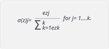 Figure. Equation of the Softmax Activation functions