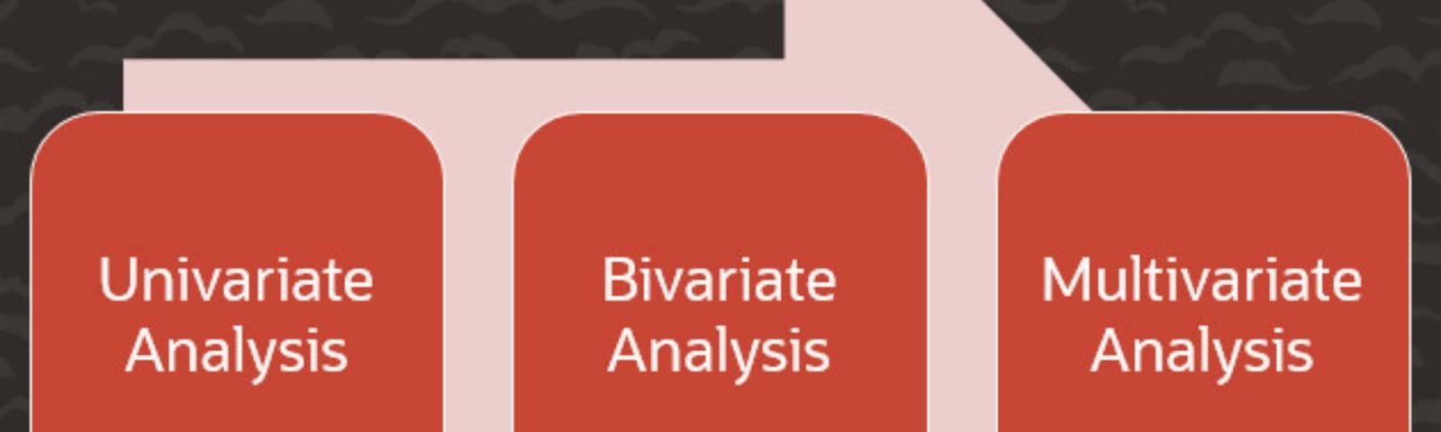 Univariate, Bivariate and Multivariate Analysis