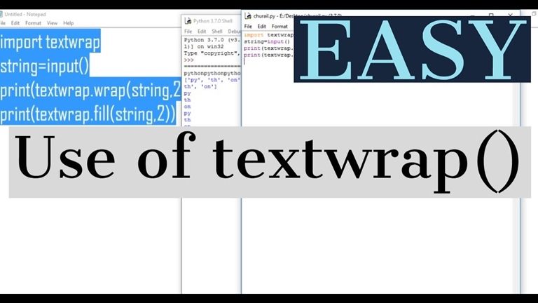 Text Wrapping in Python | Insideaiml